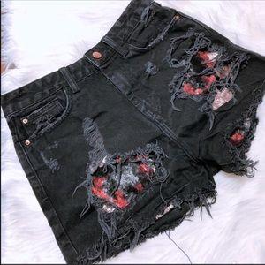 Zara black high rise shorts sz 4